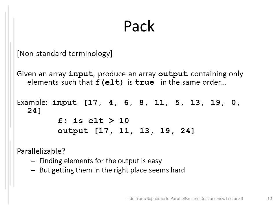 Pack [Non-standard terminology]